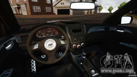 Subaru Impreza Cosworth STI CS400 2010 v1.2 for GTA 4 back view