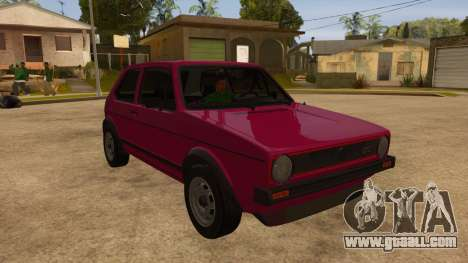 Volkwagen Golf MK1 Stock for GTA San Andreas side view