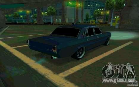 GAZ Volga 24 v2 (beta) for GTA San Andreas back left view