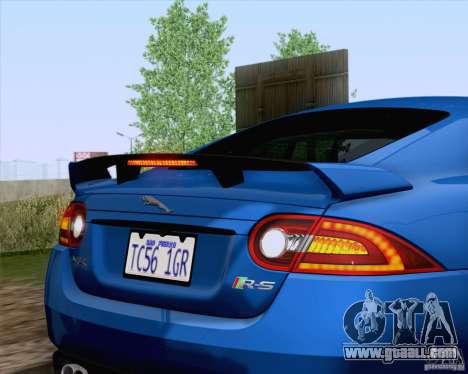 Jaguar XKR-S 2012 for GTA San Andreas inner view