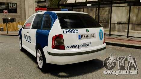 Skoda Fabia Combi Finnish Police ELS for GTA 4 back left view
