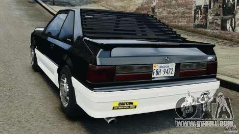Ford Mustang GT 1993 v1.1 for GTA 4 back left view