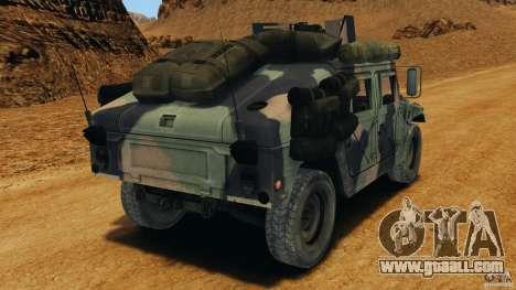 HMMWV M1114 v1.0 for GTA 4 back left view