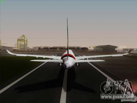 Airbus A350-900 Emirates for GTA San Andreas inner view