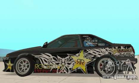 Toyota AE86wrt Rockstar for GTA San Andreas back left view