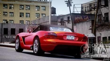 Dodge Viper SRT-10 2003 1.0 for GTA 4 back left view