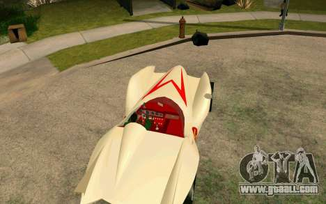 Mach 5 for GTA San Andreas back left view