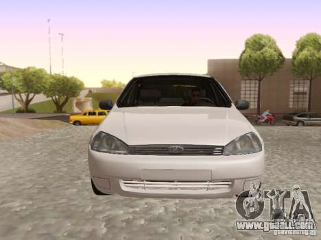 LADA Kalina sedan for GTA San Andreas back left view