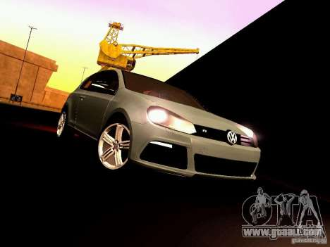 Volkswagen Golf R 2010 for GTA San Andreas inner view