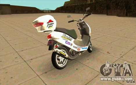 Suzuki Addres for GTA San Andreas back left view