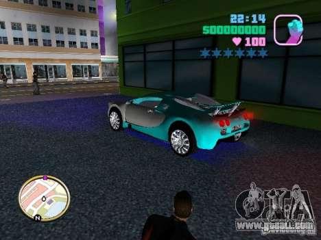 Bugatti Veyron for GTA Vice City back left view