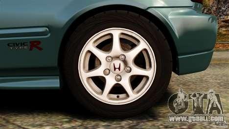 Honda Civic Type R (EK9) for GTA 4 upper view