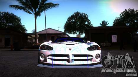 Dodge Viper Mopar Drift for GTA San Andreas back view