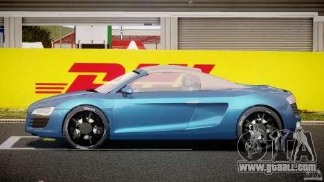Audi R8 Spyder v2 2010 for GTA 4 inner view