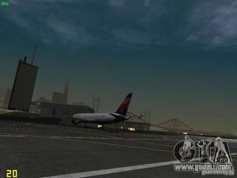 Boeing 767-400ER Delta Airlines for GTA San Andreas back view