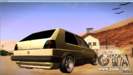 Volkswagen Golf MK II for GTA San Andreas back view