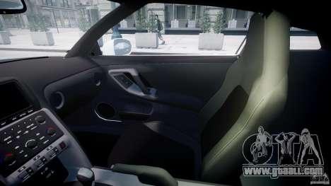 Nissan GTR R35 SpecV v1.0 for GTA 4 side view