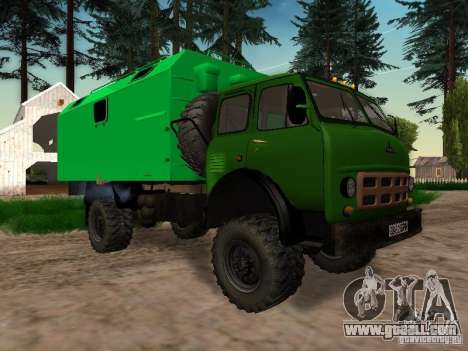An experienced 4 x 4 505 MAZ 1962 for GTA San Andreas left view