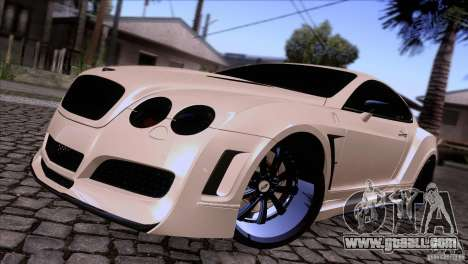 Bentley Continental GT Premier 2008 V2.0 for GTA San Andreas back left view
