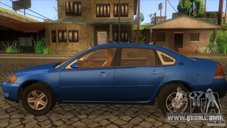 Chevrolet Impala for GTA San Andreas left view