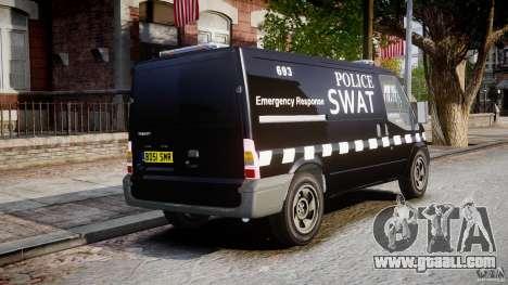 Ford Transit SWAT for GTA 4 inner view