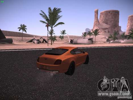 Bentley Continetal SS Dubai Gold Edition for GTA San Andreas back left view
