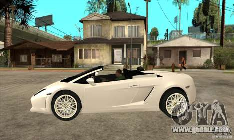 Lamborghini Gallardo Spyder v2 for GTA San Andreas left view