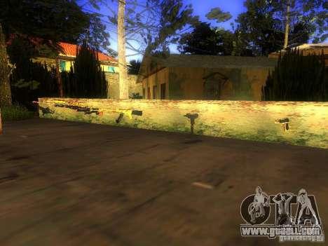 Weapons on Grove Street for GTA San Andreas third screenshot