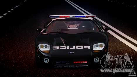 Ford GT1000 Hennessey Police 2006 [EPM][ELS] for GTA 4 bottom view
