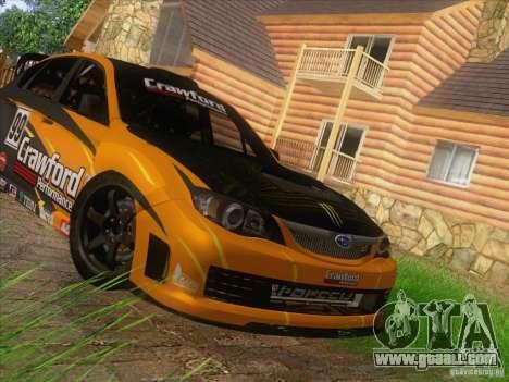 Subaru Impreza WRX STI N14 Gymkhana for GTA San Andreas inner view