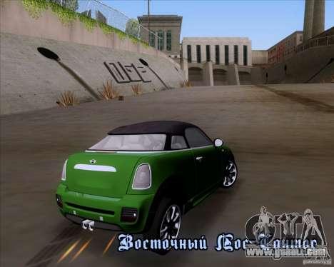 Mini Cooper Concept v1 2010 for GTA San Andreas back left view