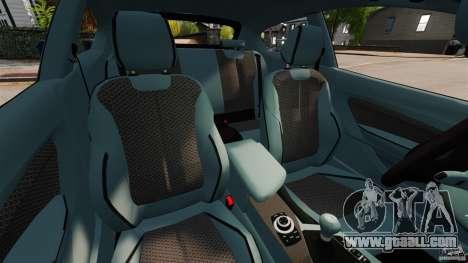 BMW 135i M-Power 2013 for GTA 4 inner view