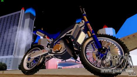 Honda CR 250 Stunt for GTA San Andreas back view
