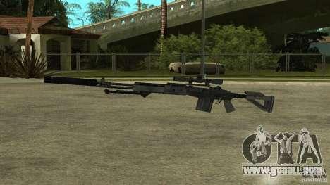 MK14 EBR with a silencer for GTA San Andreas