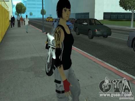 Mirrors Edge Faith for GTA San Andreas second screenshot