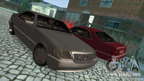 Mercedes Benz 600 Sec for GTA San Andreas side view