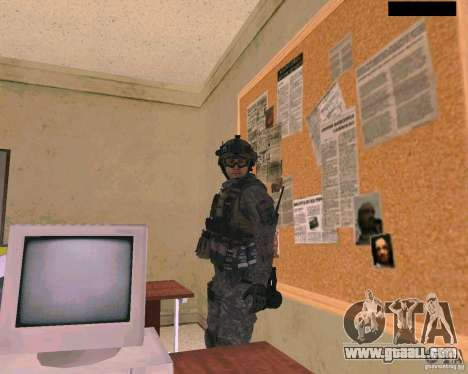 The soldier's skin from Cod MW 2 for GTA San Andreas third screenshot
