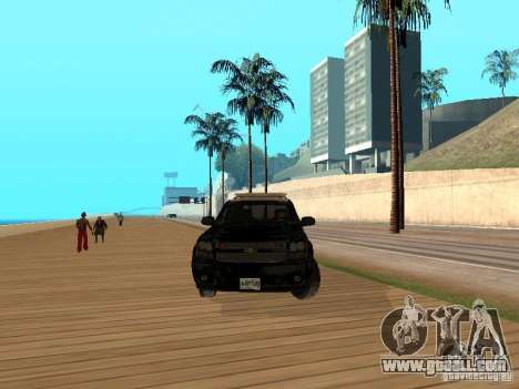 Chevrolet Tahoe Ontario Highway Police for GTA San Andreas back view