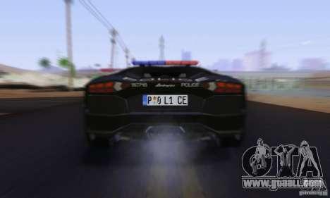 Lamborghini Aventador LP700-4 Police for GTA San Andreas side view