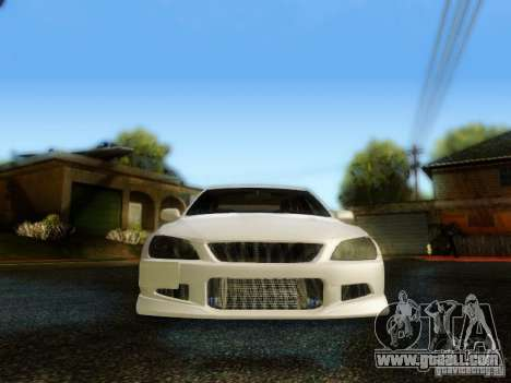 Lexus IS300 Jap style for GTA San Andreas inner view
