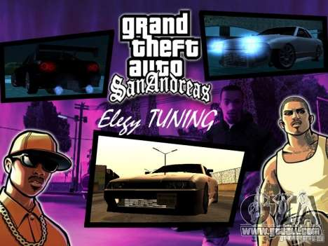 ELEGY TUNING MOD for GTA San Andreas left view