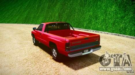 Dodge Ram 2500 1994 for GTA 4 upper view