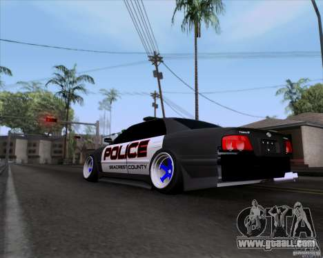 Toyota Chaser jzx100 Drift Police for GTA San Andreas left view