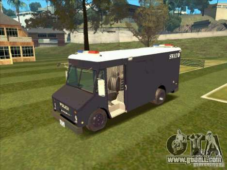 Swat Van from L.A. Police for GTA San Andreas left view