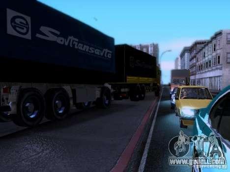 Trailer Kamaz 62117 for GTA San Andreas back left view
