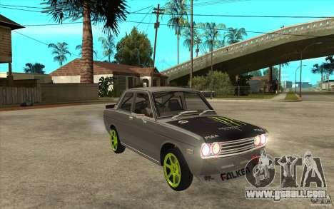 Datsun 510 Drift for GTA San Andreas back view
