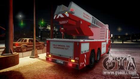 Scania Fire Ladder v1.1 Emerglights blue-red ELS for GTA 4 engine