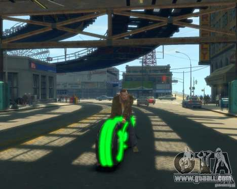 Motorcycle of the Throne (neon green) for GTA 4