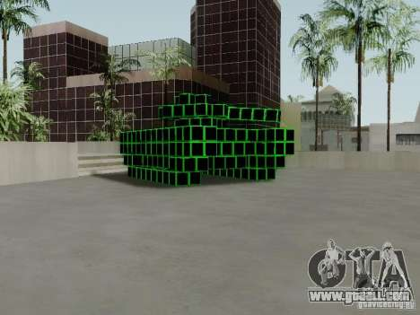 Pixel Tank for GTA San Andreas left view