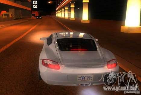Porsche Cayman S for GTA San Andreas back view
